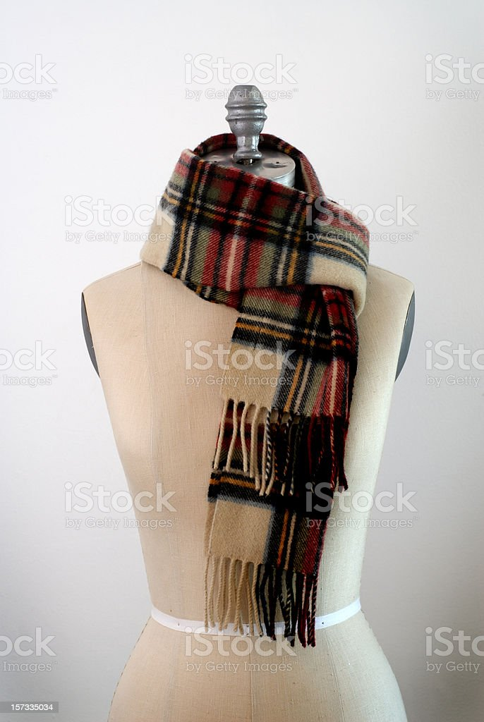 Male Mannequin Torso with scarf royalty-free stock photo