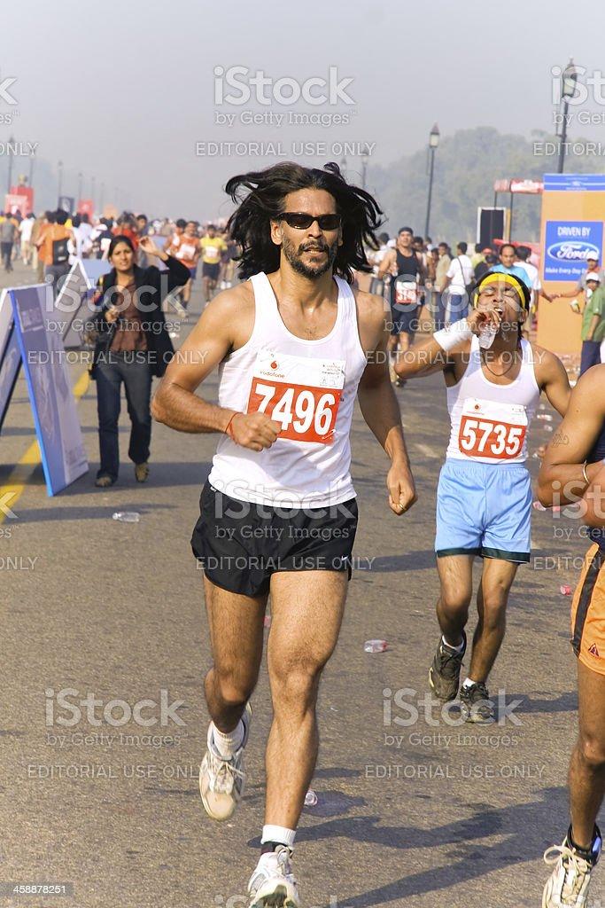 Male marathon runner royalty-free stock photo