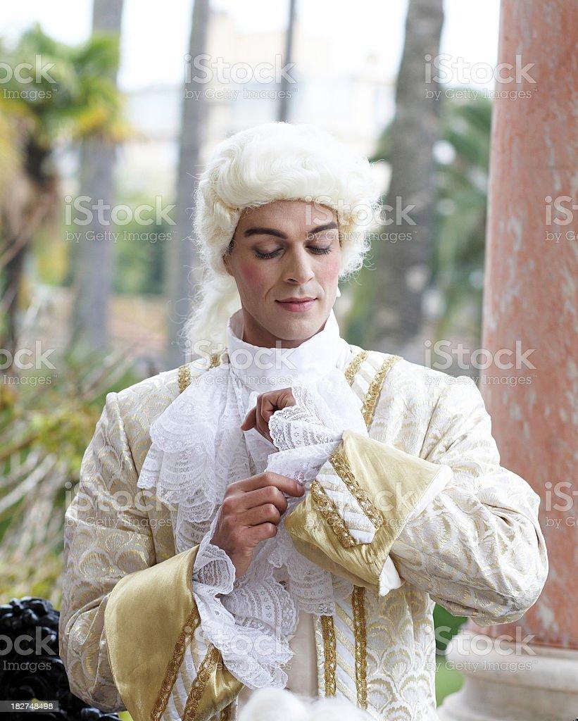Male Marie Antoinette model stock photo