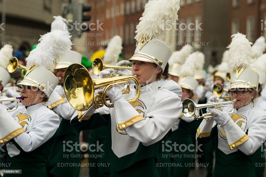 Male mellophone player stock photo