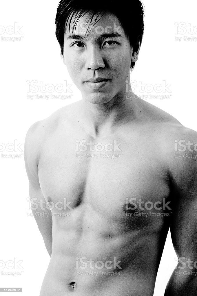Male Model B&W royalty-free stock photo
