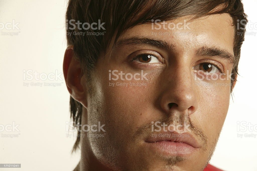 male model close up royalty-free stock photo