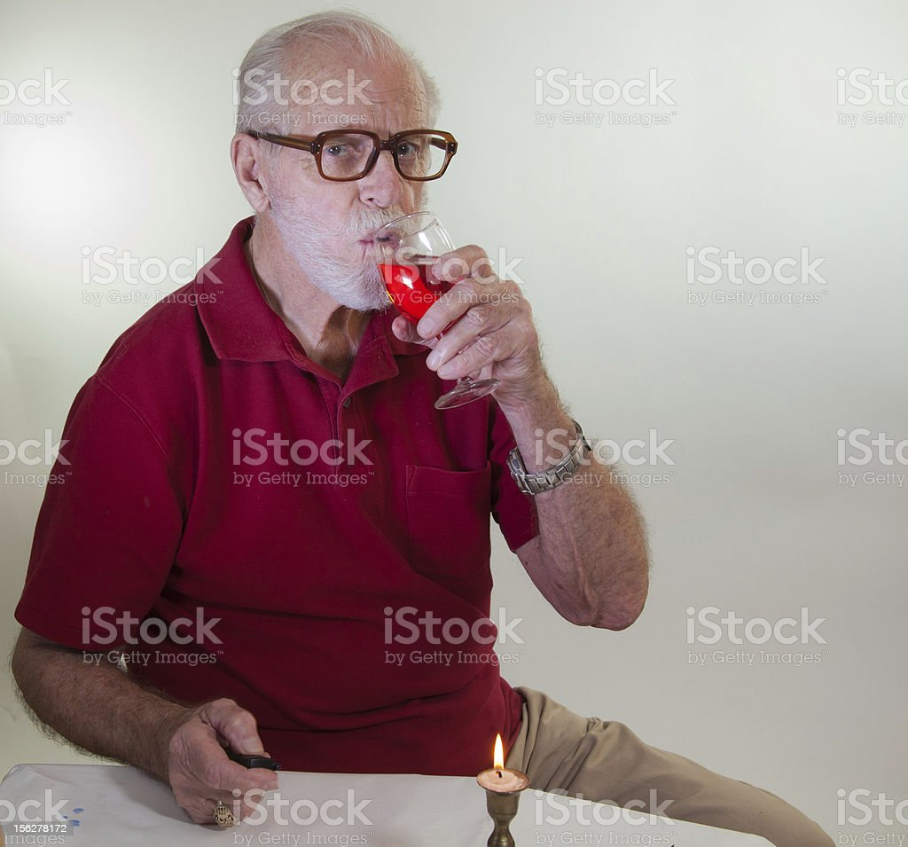 Male Model Drinking Wine royalty-free stock photo