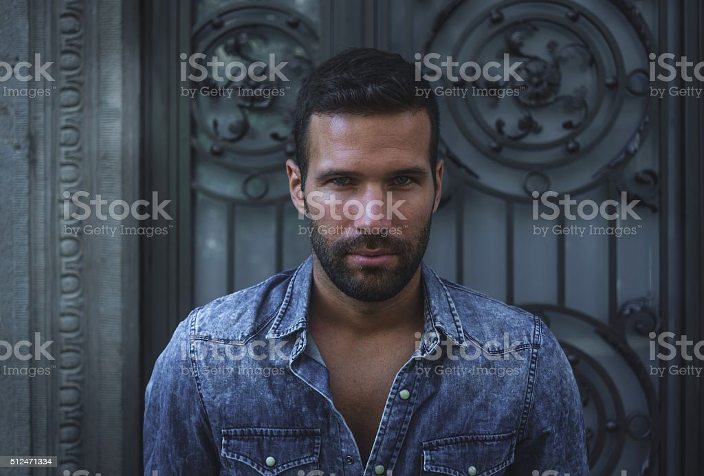 Male model portrait stock photo