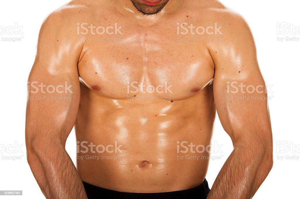 Male mucles body royalty-free stock photo