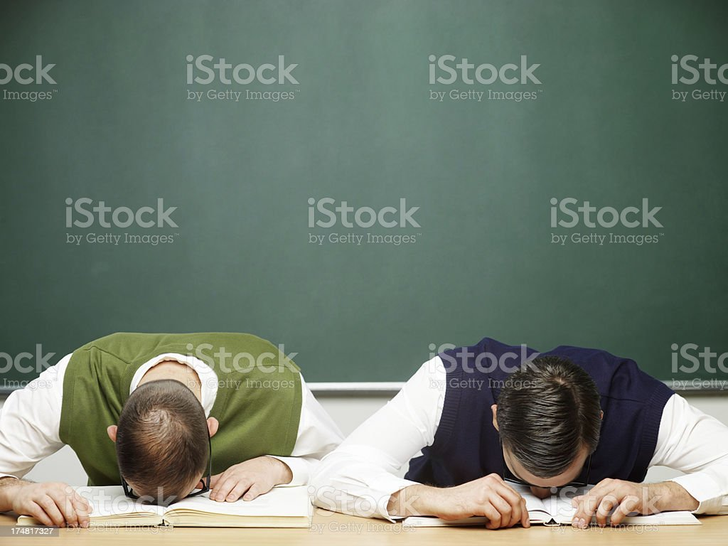 Male nerds distraught royalty-free stock photo