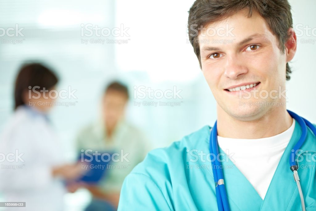 Male nurse royalty-free stock photo