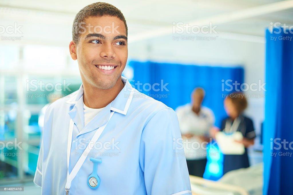 male nurse portrait stock photo