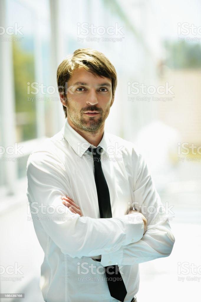 Male Office Worker/ Businessman Having A Break stock photo