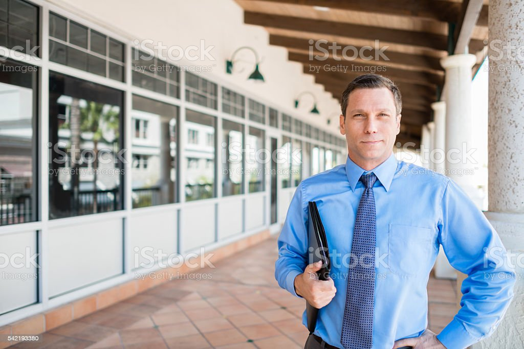 Male office worker businessman stock photo