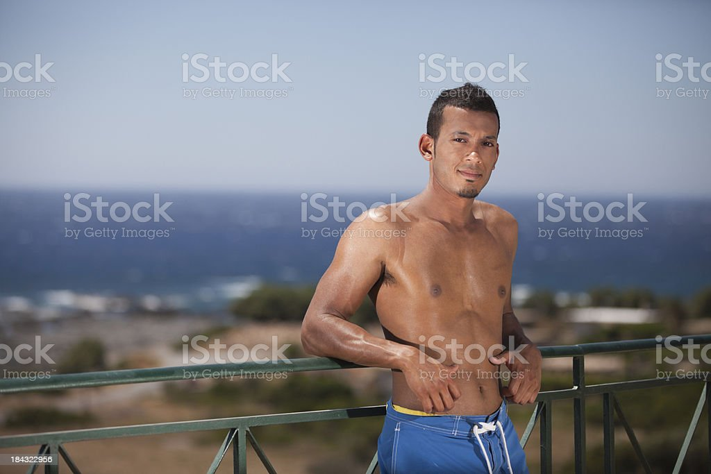 Male on Holiday royalty-free stock photo