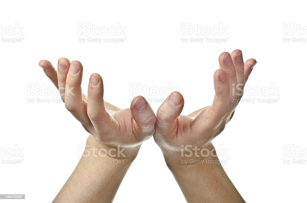 Male open hands royalty-free stock photo