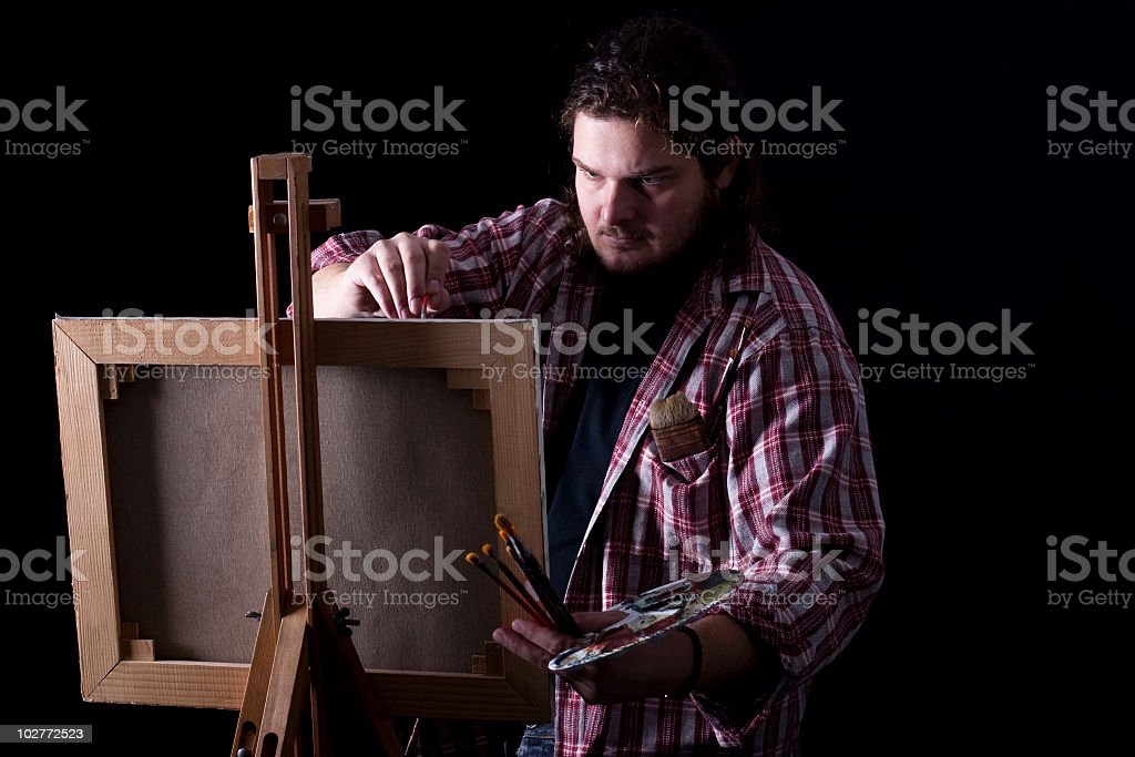 Male painter royalty-free stock photo