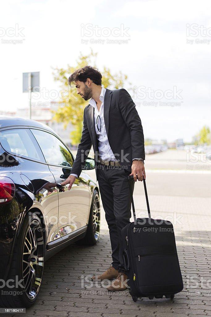 Male passenger stock photo
