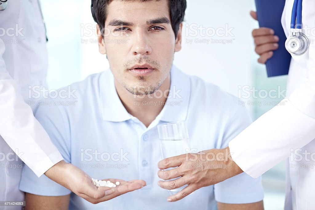 Male patient royalty-free stock photo