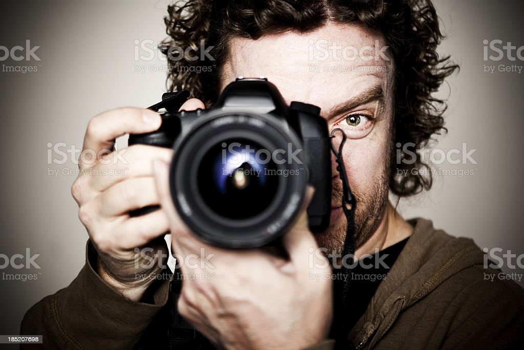 Male Photographer Portrait stock photo