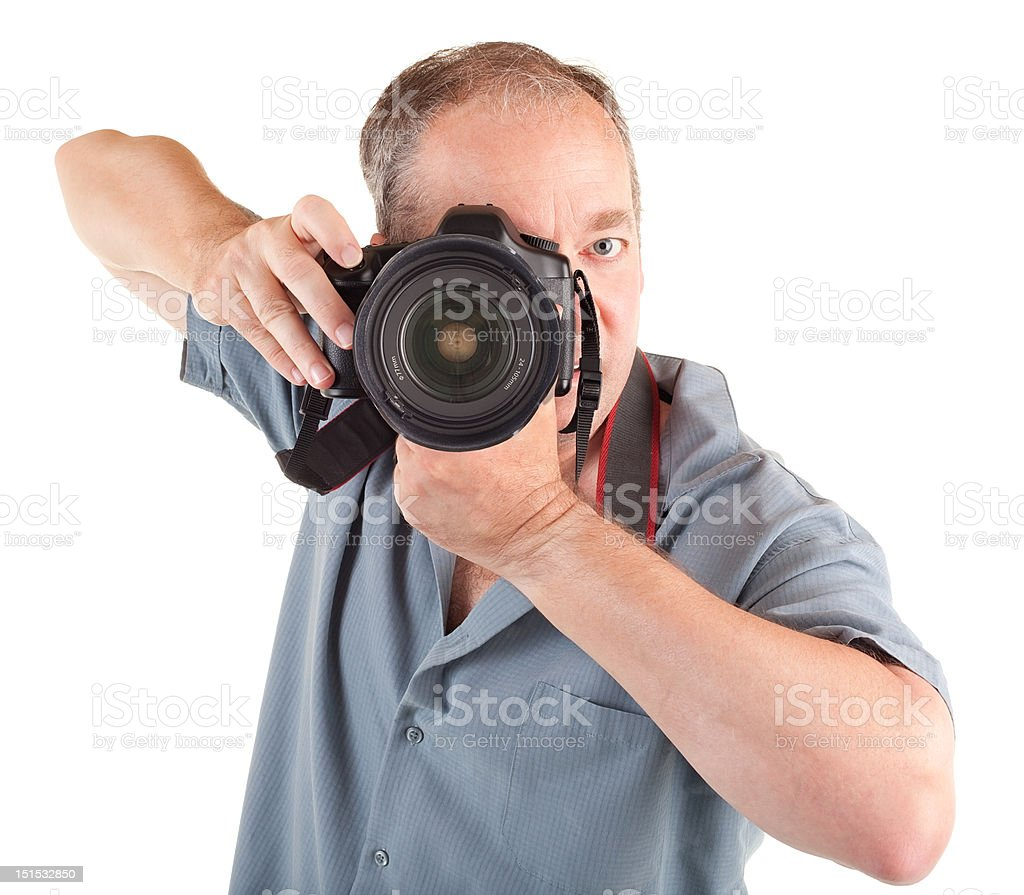 Male Photographer Shooting You royalty-free stock photo