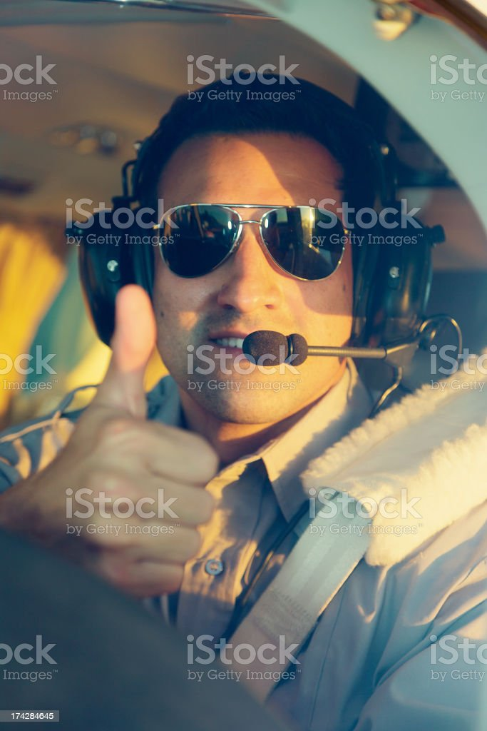 Male Pilot royalty-free stock photo