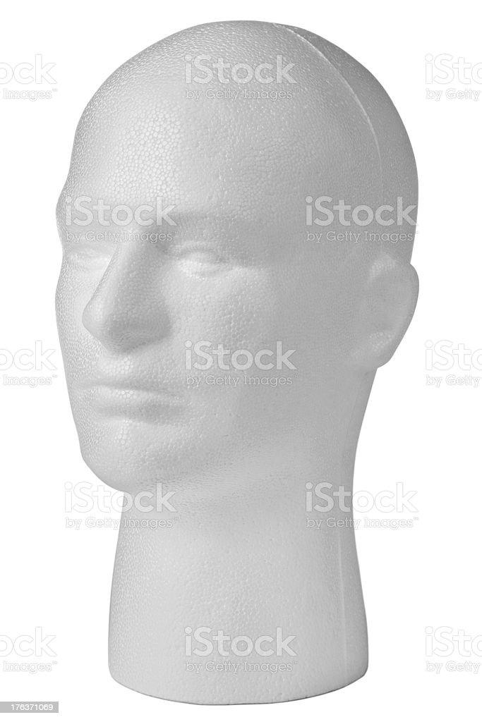 Male polystyrene mannequin head stock photo