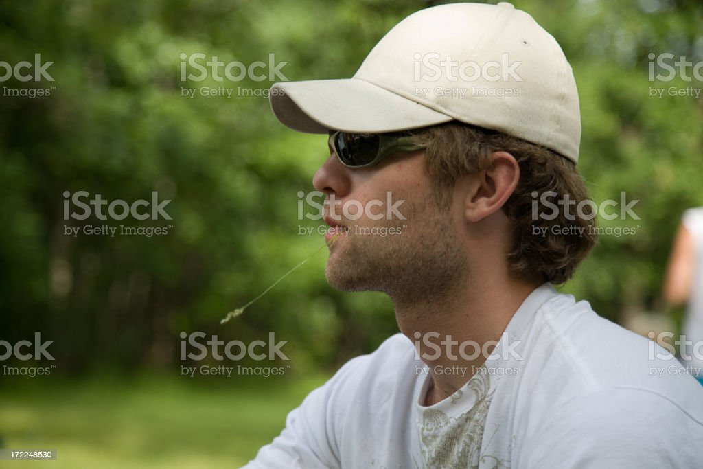 Male Ponder royalty-free stock photo