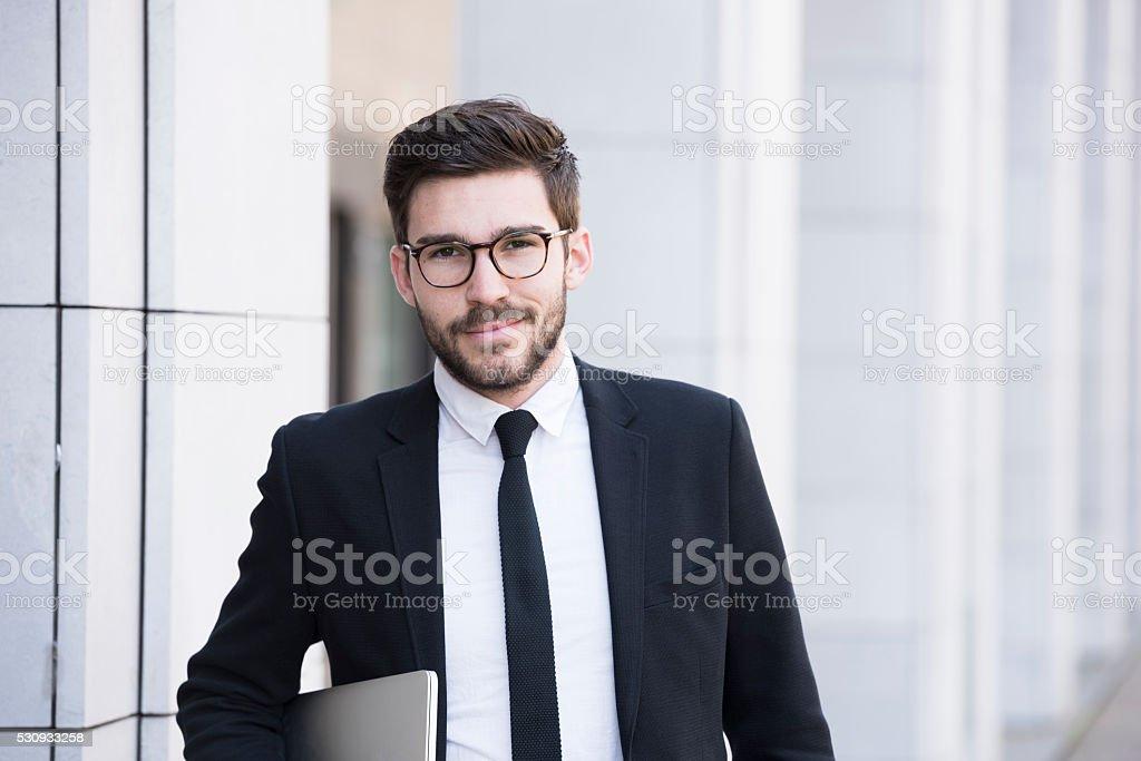 Male professional business executive portrait stock photo