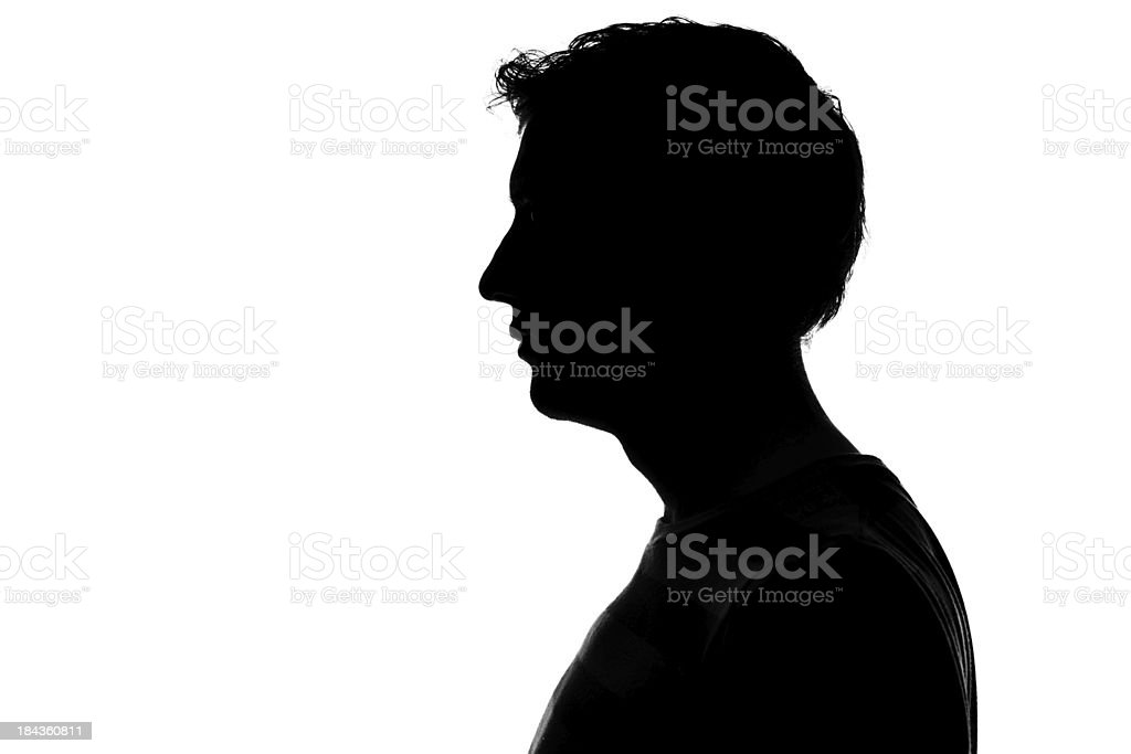 male profile silhouette stock photo