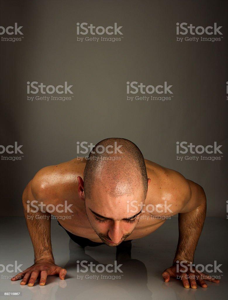 Male push ups stock photo