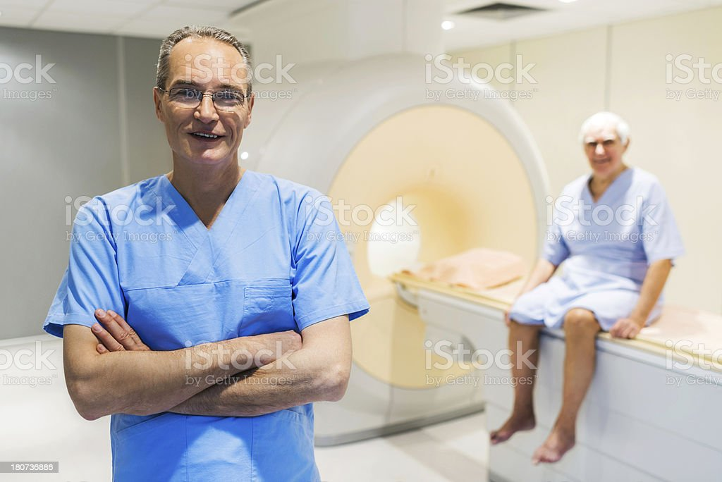 Male radiologist. royalty-free stock photo