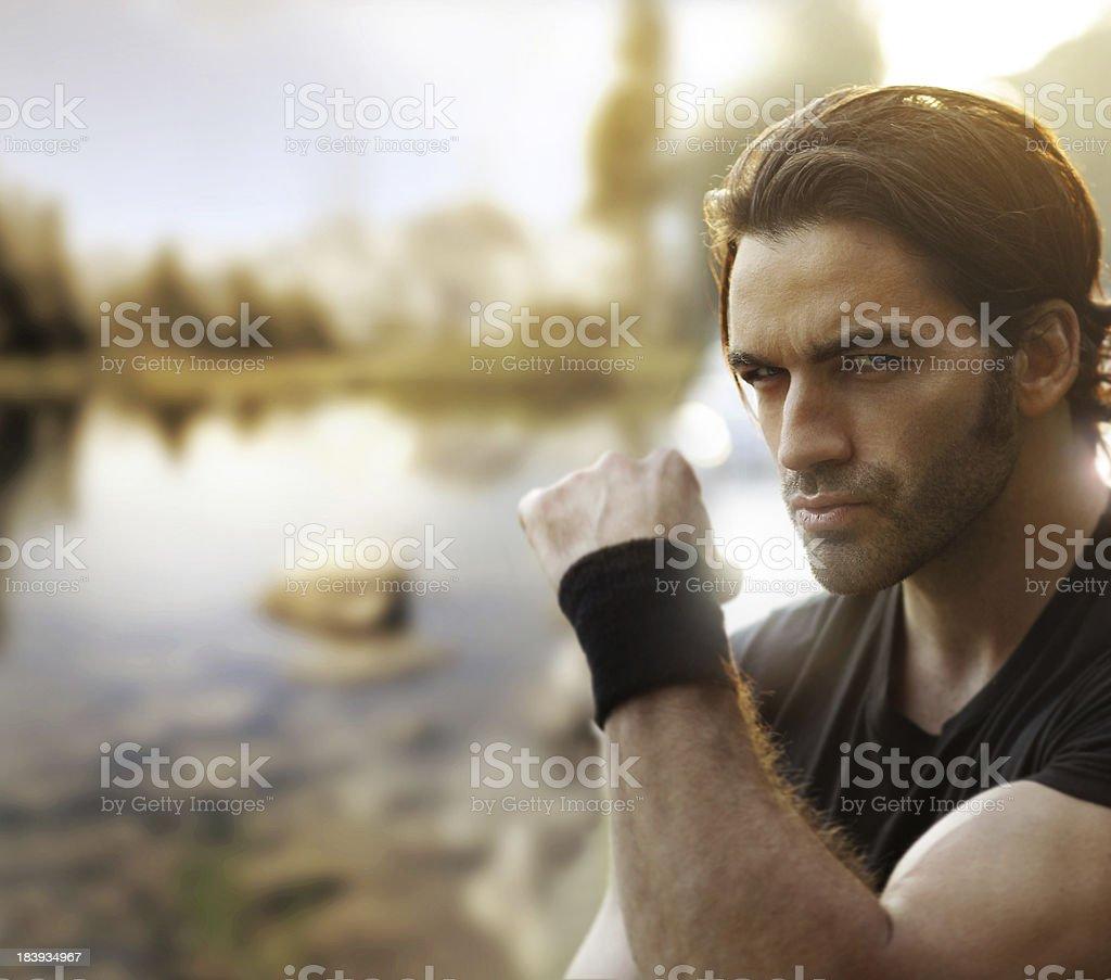Male rebel outside royalty-free stock photo