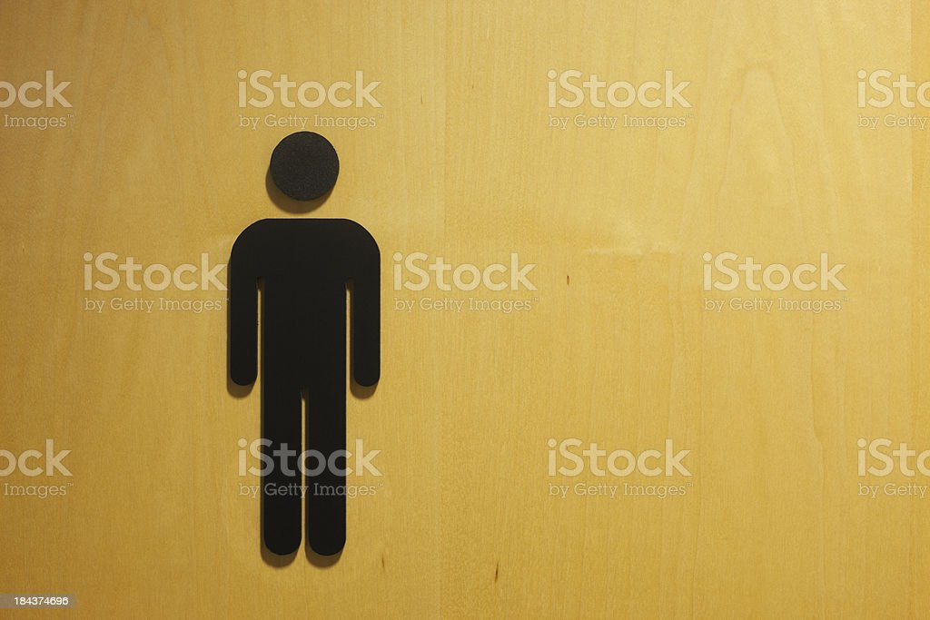 Male restroom symbol. stock photo