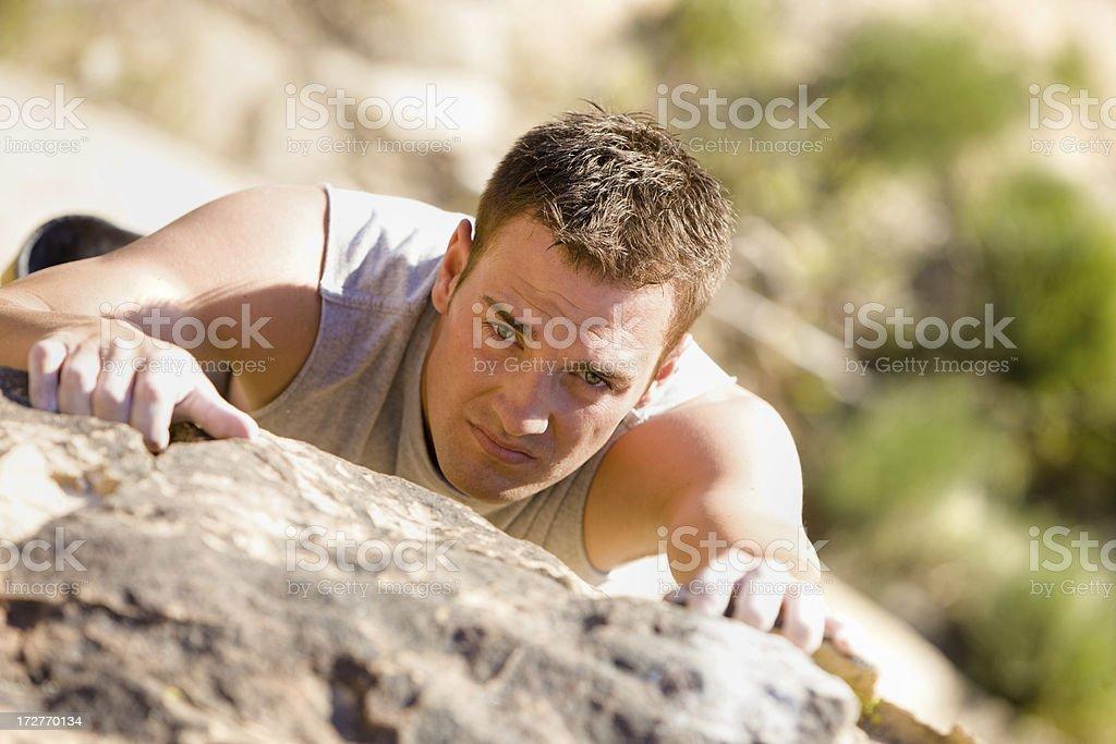 Male Rock Climber royalty-free stock photo