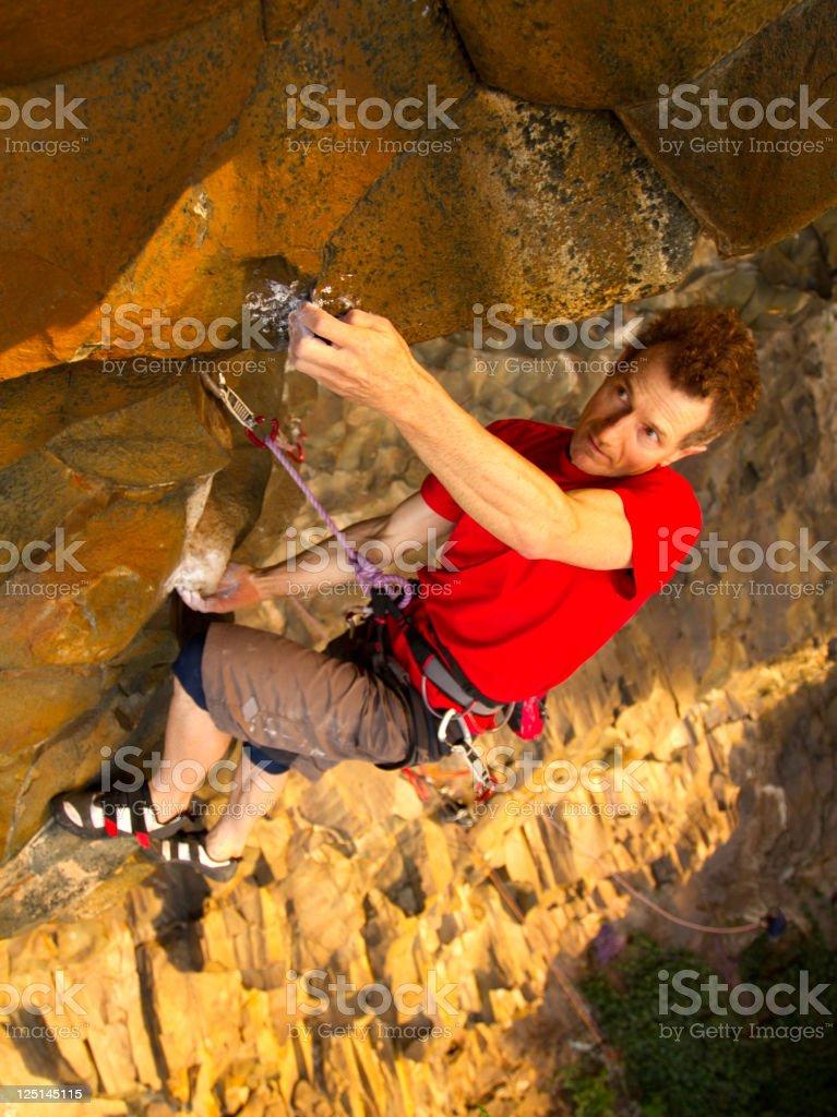 Male Rockclimber stock photo