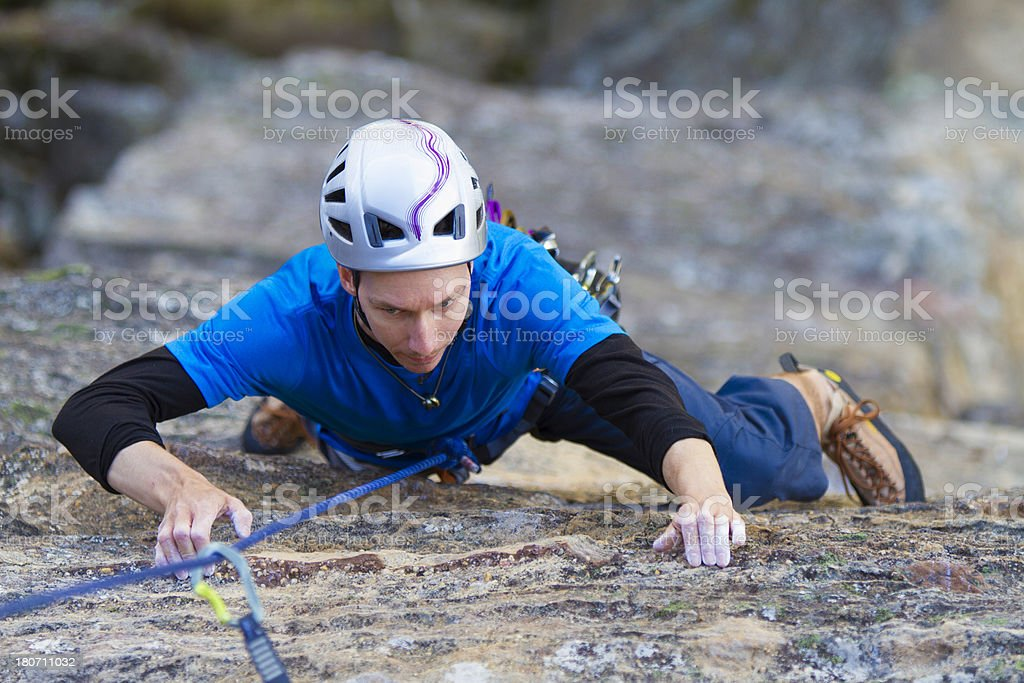 Male Rockclimber royalty-free stock photo