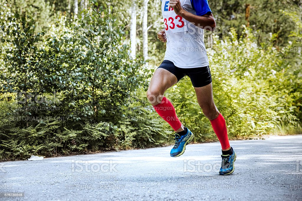 male runner leader of marathon royalty-free 스톡 사진
