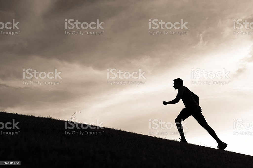 Male runner stock photo