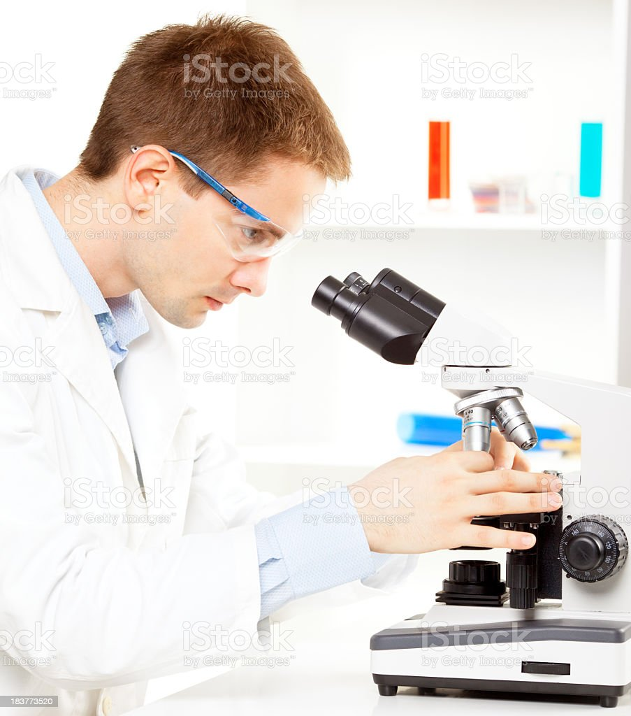 Male scientist in science laboratory royalty-free stock photo
