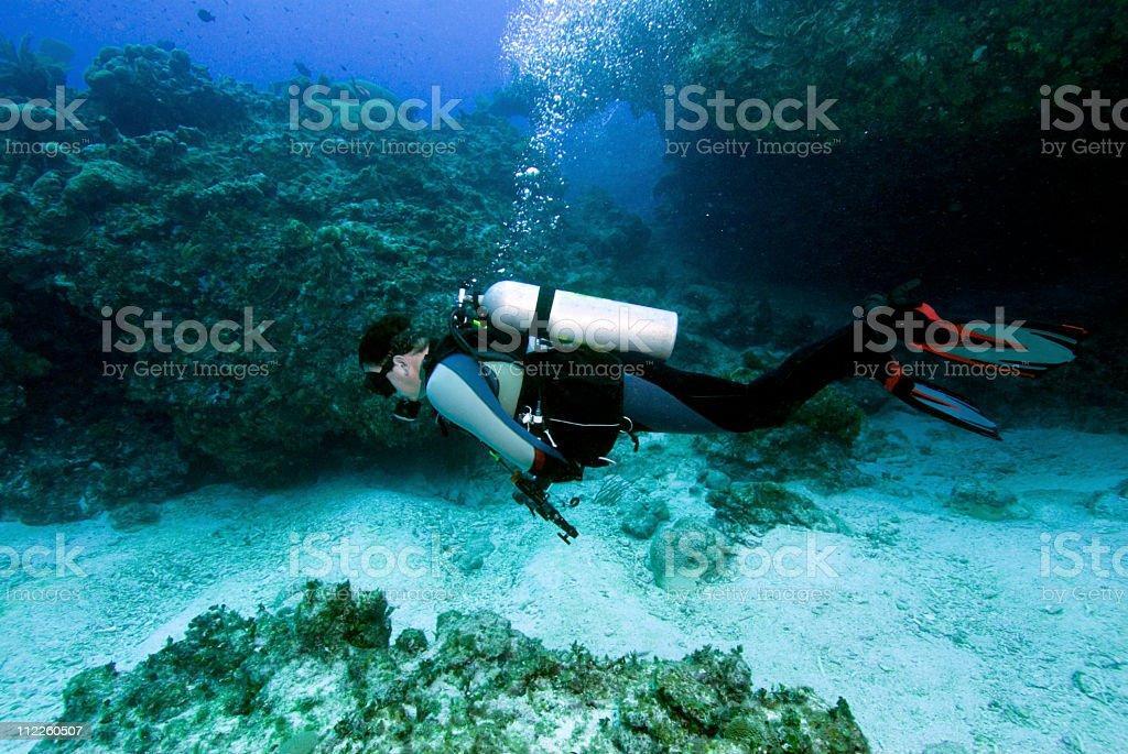 Male Scuba Diver stock photo