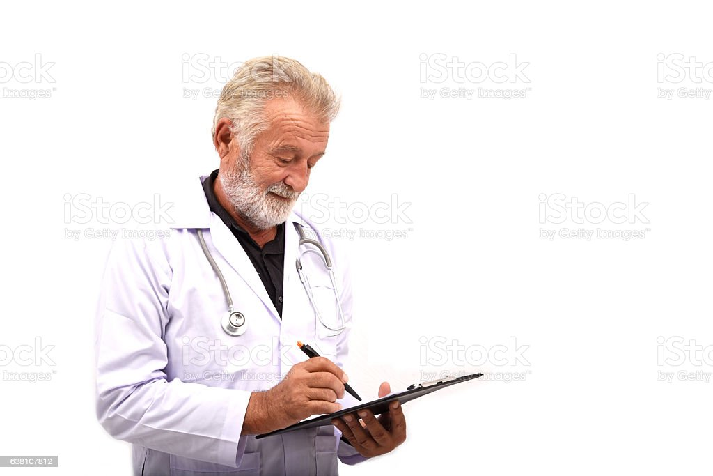 Male senior doctor. Professional doctor stock photo
