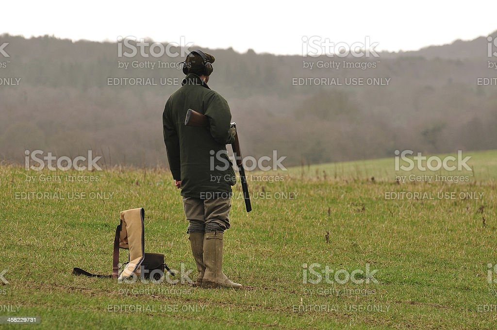 Male shooter waiting royalty-free stock photo
