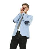 Male shouting