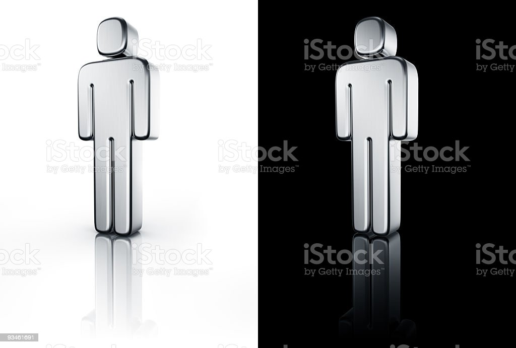 male sign on white and black floor royalty-free stock photo