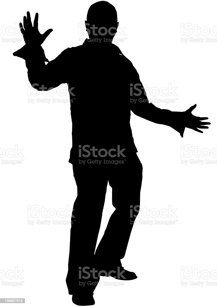 Male Silhouette royalty-free stock photo