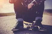 Male Skateboarding lifestyle