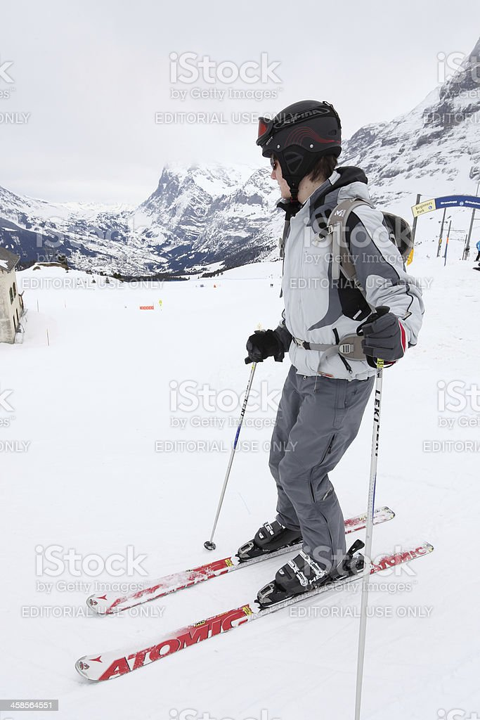 Male skier in Alps royalty-free stock photo