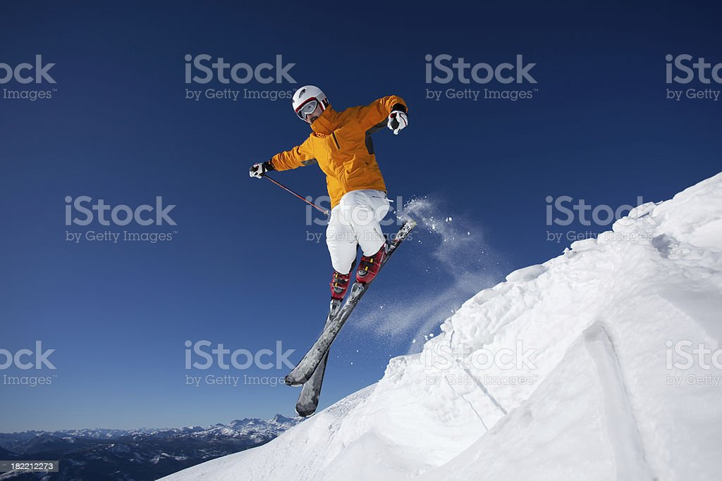male skier jumping royalty-free stock photo