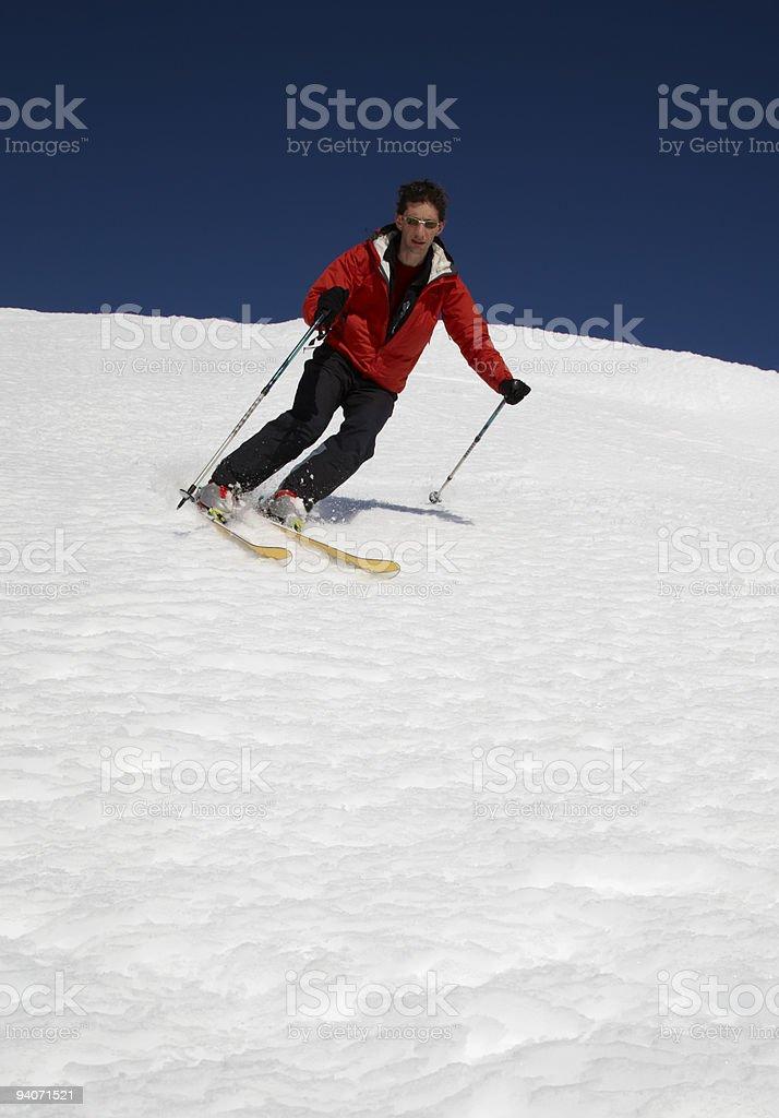 Male Skier stock photo