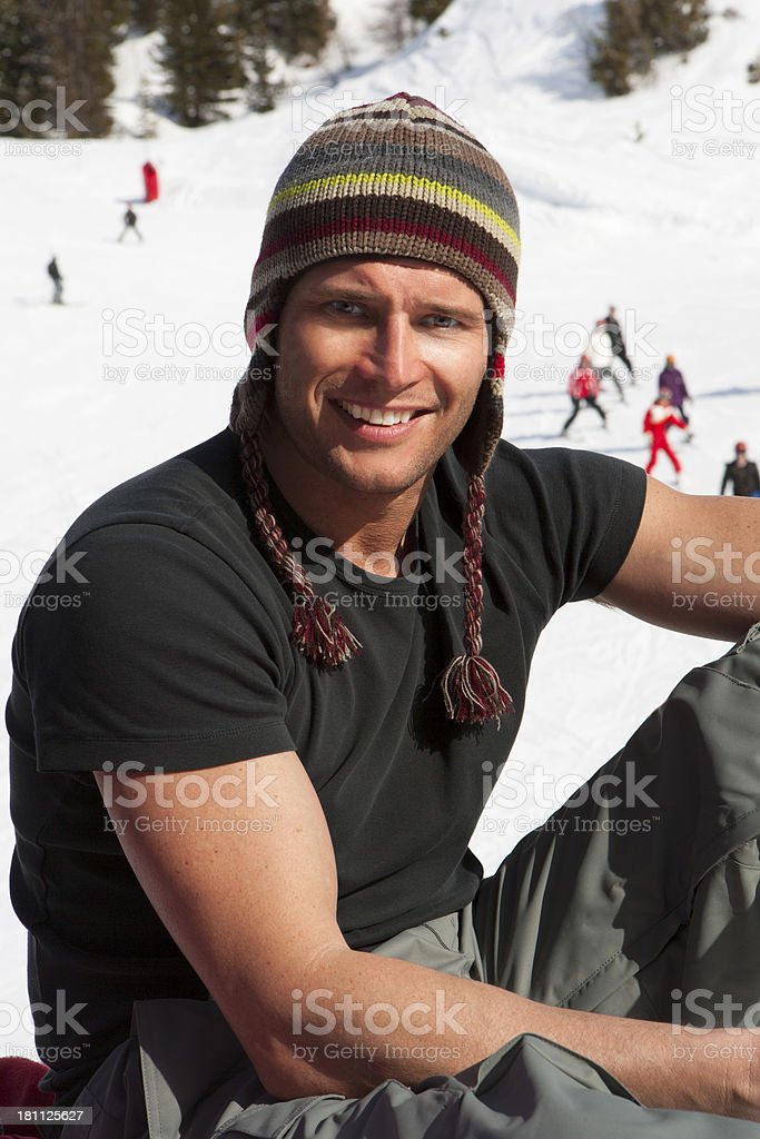 Male Skiier royalty-free stock photo