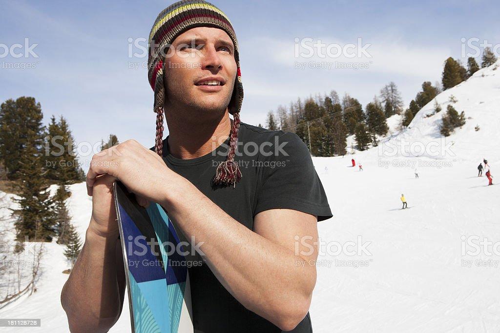 Male Skiier royalty-free stock photo