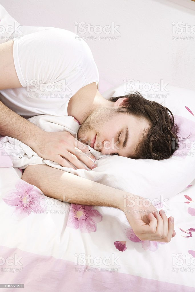 Male Sleeping royalty-free stock photo
