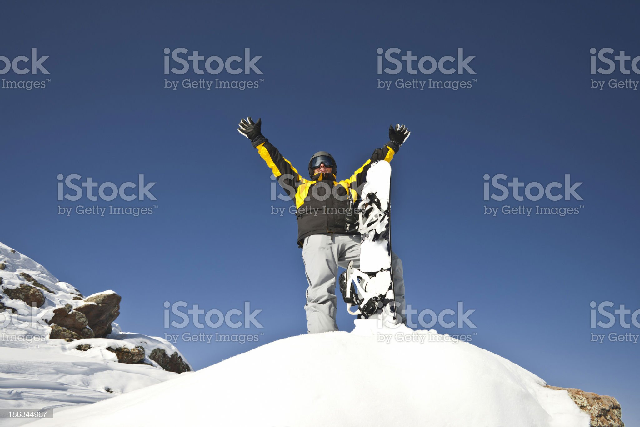 Male snowboarder royalty-free stock photo